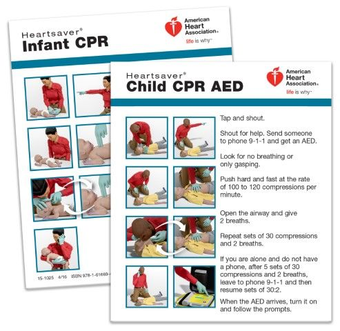 Heartsaver® Child and Infant CPR Wallet Card (100-pack)
