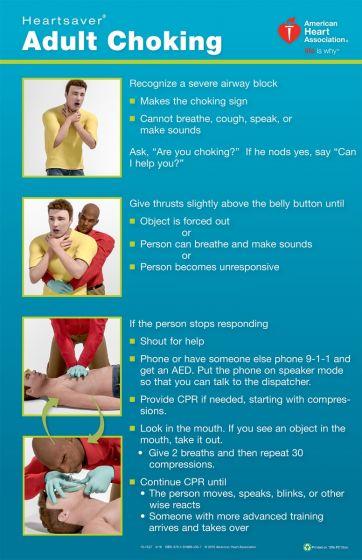 Heartsaver® Adult Choking Poster (3-pack)