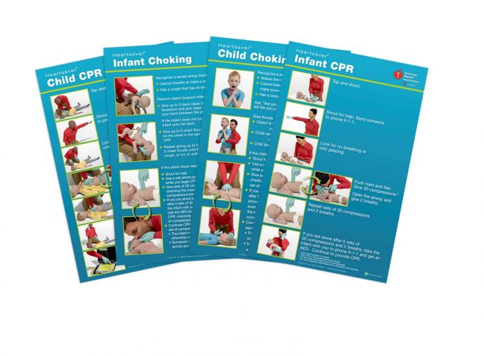 Heartsaver® Child and Infant Poster Pack (2 each of 4 posters)