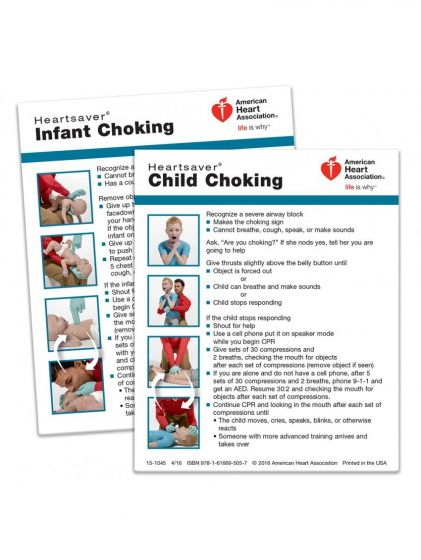 Heartsaver® Child and Infant Choking Wallet Card (100-pack)
