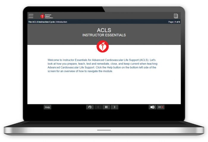 Advanced Cardiovascular Life Support (ACLS) Instructor Essentials Online