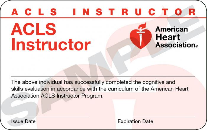 Advanced Cardiovascular Life Support (ACLS) Instructor Card (24 pack)