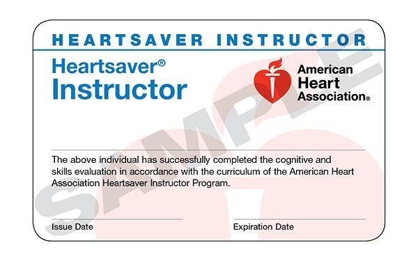 Heartsaver® Instructor Card (15 pack)