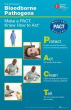 Heartsaver® Bloodborne Pathogens Poster (5-pack)