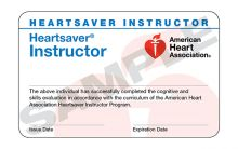 Heartsaver® Instructor Card (3-card sheet)