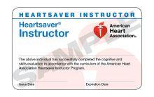 Heartsaver® Instructor Card (3-card sheet)
