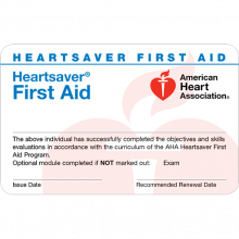 Heartsaver First Aid Card (6-pack)