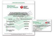 Heartsaver® for K-12 Schools eCard
