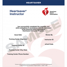 Heartsaver Instructor eCard