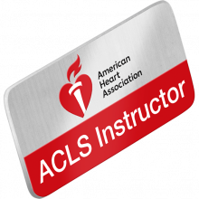 ACLS Instructor Lapel Pin