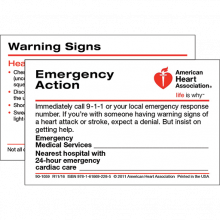 Emergency Action Wallet Card (50-pack)