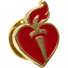 Heart & Torch Lapel Pin Gold (10-pack)