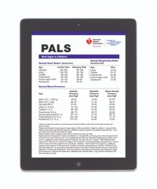 Pediatric Advanced Life Support Pals Digital Reference Card