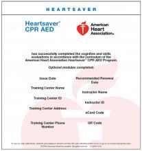 Heartsaver CPR AED eCard (2015)