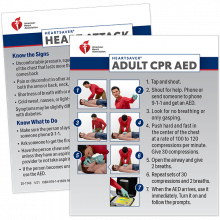 Heartsaver CPR AED Wallet Cards