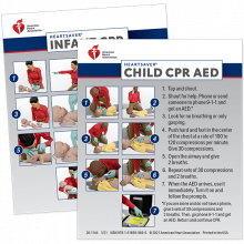 Heartsaver Infant & Child CPR AED Wallet Cards