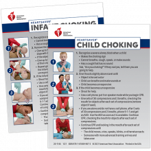 Heartsaver Child & Infant Choking Wallet Cards