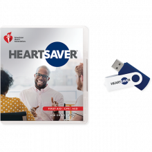 Heartsaver First Aid CPR AED Video USB for Instructors