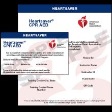 Heartsaver CPR AED eCard