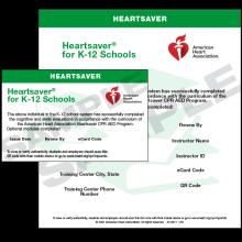 Heartsaver K-12 eCard