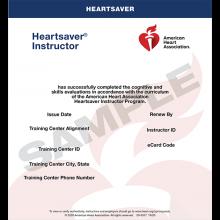 Heartsaver Instructor eCard