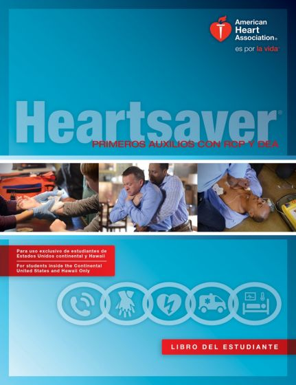 US Version Spanish Heartsaver FA CPR AED Student Workbook (2015)