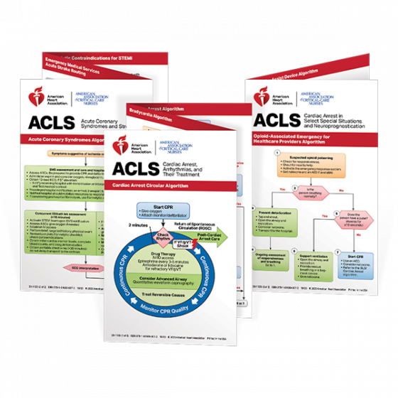 ACLS Reference Card Set