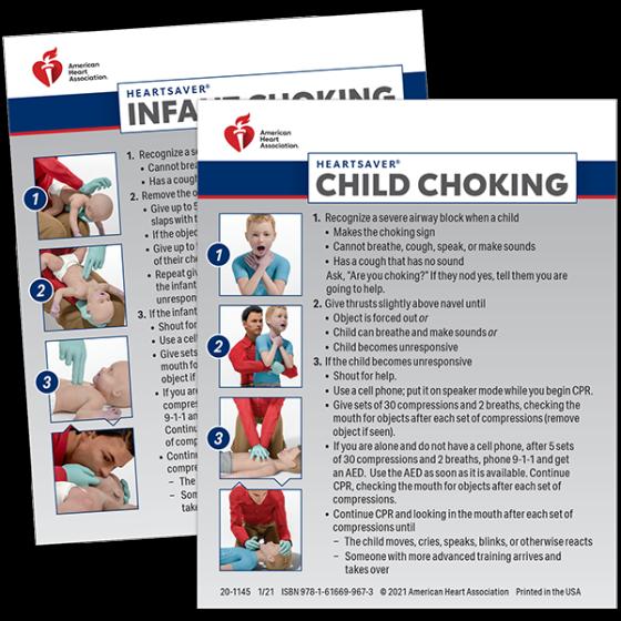 Heartsaver® Child & Infant Choking Wallet Cards