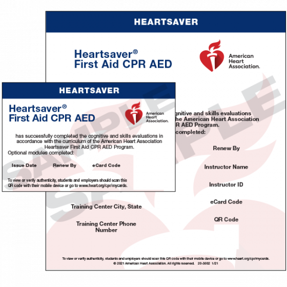 Heartsaver® First Aid CPR AED eCard