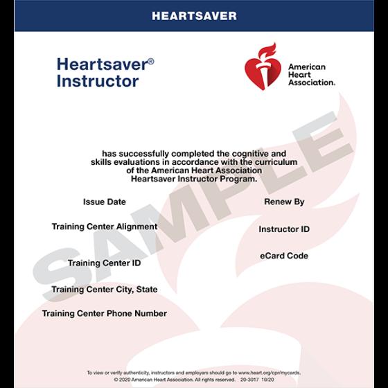 Heartsaver® Instructor eCard