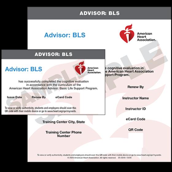 Advisor: BLS eCard