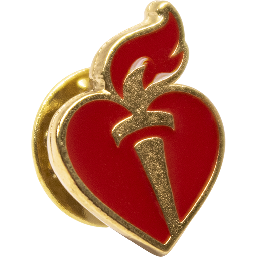 Heart & Torch Lapel Pin Gold (10-pack)