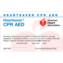 Heartsaver CPR AED Card (6-pack)