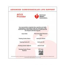 Advanced Cardiovascular Life Support (ACLS) Provider eCard