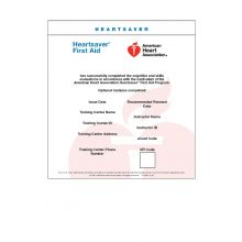 Heartsaver® First Aid eCard