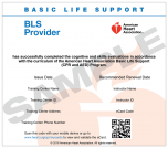 Basic Life Support (BLS) Provider eCard